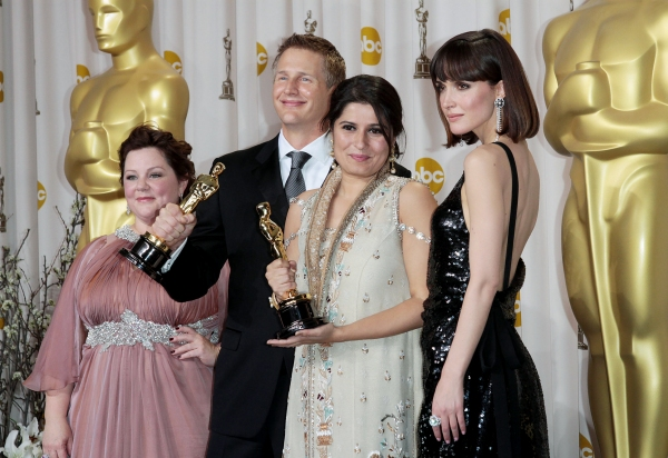 Melissa McCarthy, Sharmeen Obaid-Chinoy, Daniel Junge and Rose Byrne