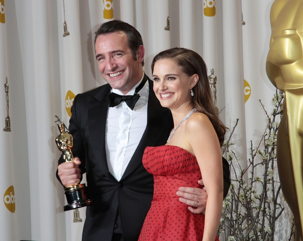Jean Dujardin and Natalie Portman at 2012 Academy Awards - The Winners!
