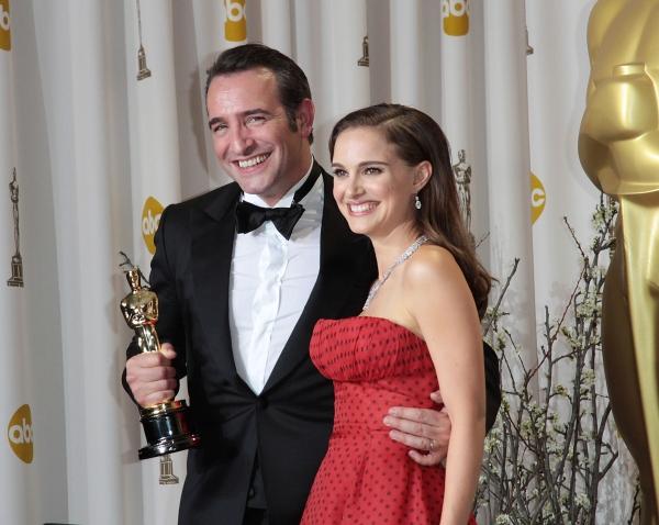 Jean Dujardin and Natalie Portman