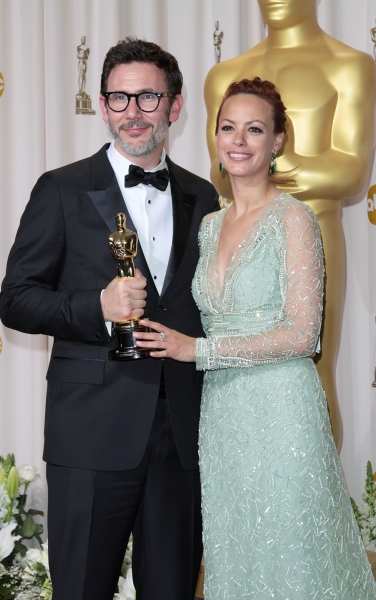 Michel Hazanavicius and Berenice Bejo at 2012 Academy Awards - The Winners!