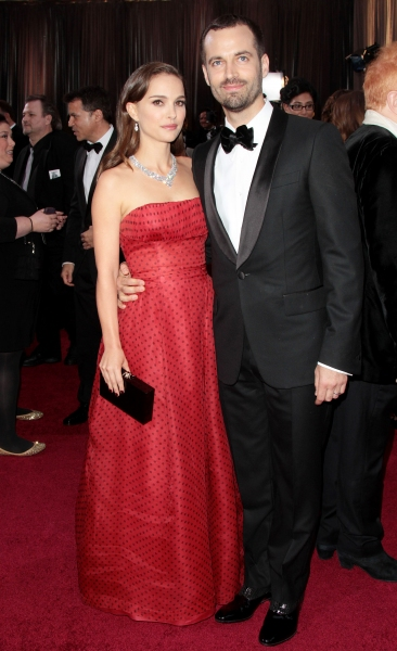 Natalie Portman & Benjamin Millepied at 2012 Academy Awards - Red Carpet Part 2
