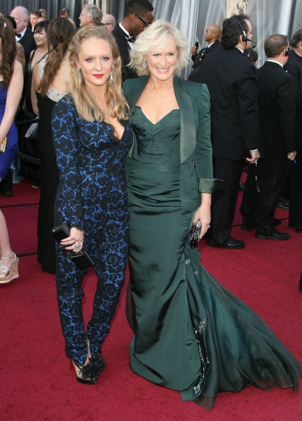 Glenn Close and Annie Starke at 2012 Academy Awards - Red Carpet Part 2
