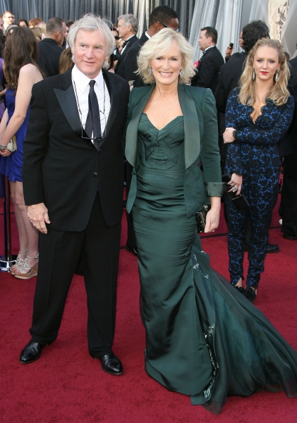Glenn Close and David Shaw at 2012 Academy Awards - Red Carpet Part 2