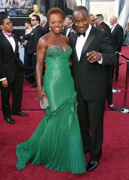Viola Davis and Julius Tennon at 2012 Academy Awards - Red Carpet Part 2