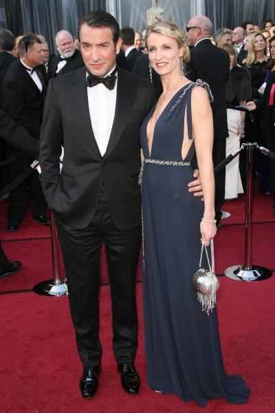 Jean Dujardin, Alexandra Lamy at 2012 Academy Awards - Red Carpet Part 2