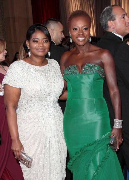 Octavia Spencer; Viola Davis at 2012 Academy Awards - Red Carpet Part 2