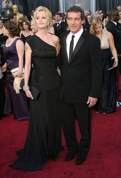 Melanie Griffith, Antonio Banderas at 2012 Academy Awards - Red Carpet Part 2