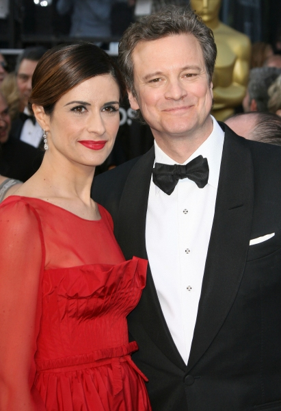 Livia Giuggiol, Colin Firth at 2012 Academy Awards - Red Carpet Part 2