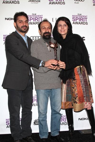 Peyman Maadi, Asghar Farhadi and Leila Hatami pictured at the 2012 Film Independent S Photo