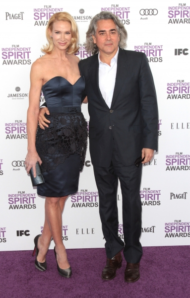 Kelly Lynch & Guest pictured arriving at the 2012 Film Independent Spirit Awards in S Photo