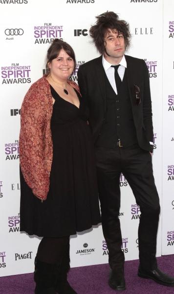 Megan Griffiths & Benjamin Kasulke pictured arriving at the 2012 Film Independent Spi Photo