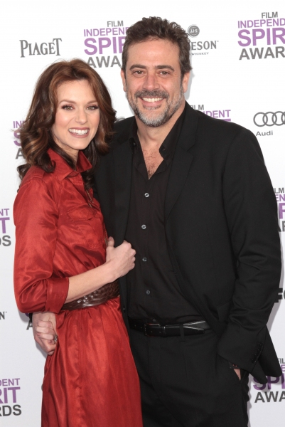 Jeffrey Dean Morgan and Hilarie Burton pictured arriving at the 2012 Film Independent Spirit Awards in Santa Monica, Ca February 25, 2012 © RD / Orchon / Retna Digital
