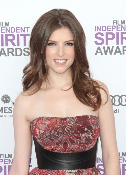 Anna Kendrick pictured arriving at the 2012 Film Independent Spirit Awards in Santa Monica, Ca February 25, 2012 © RD / Orchon / Retna Digital at 2012 Starry Spirit Awards Red Carpet - Zac Efron, Michelle WIlliams & More!