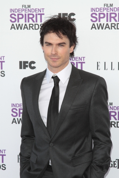 Ian Somerhalder pictured arriving at the 2012 Film Independent Spirit Awards in Santa Monica, Ca February 25, 2012 © RD / Orchon / Retna Digital at 2012 Starry Spirit Awards Red Carpet - Zac Efron, Michelle WIlliams & More!