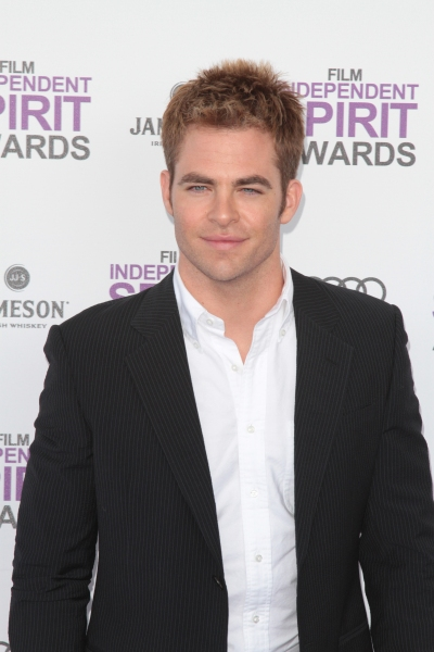 Chris Pine pictured arriving at the 2012 Film Independent Spirit Awards in Santa Monica, Ca February 25, 2012 © RD / Orchon / Retna Digital at 2012 Starry Spirit Awards Red Carpet - Zac Efron, Michelle WIlliams & More!