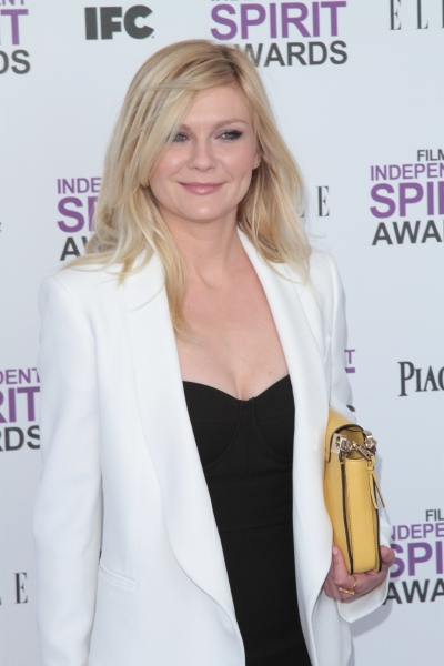 Kirsten Dunst pictured arriving at the 2012 Film Independent Spirit Awards in Santa Monica, Ca February 25, 2012 © RD / Orchon / Retna Digital
