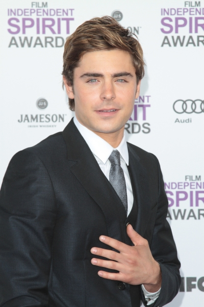 Zac Efron pictured arriving at the 2012 Film Independent Spirit Awards in Santa Monic Photo