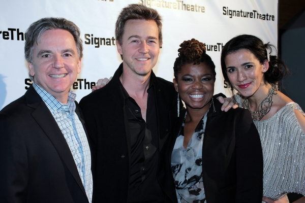 Charles Mee, Edward Norton, Katori Hall, Patricia McGregor at Katori Hall's HURT VILLAGE Opens at Signature; Edward Norton & More!
