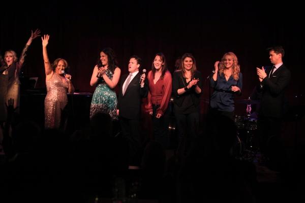 Finale: Julie Halston, Darlene Love, Lindsay Mendez, Robert Creighton, Julia Murney,  Photo