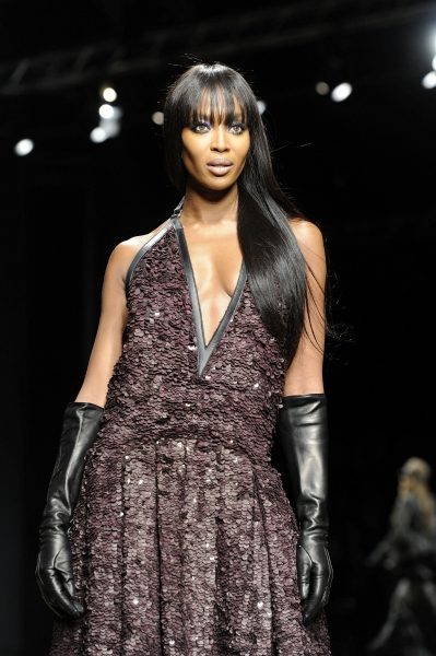 Naomi Campbell at Roberto Cavalli at Milan Fashion Week
