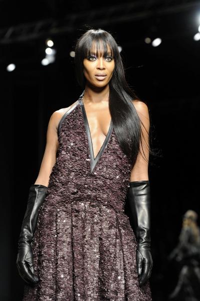 Naomi Campbell at Roberto Cavalli at Milan Fashion Week