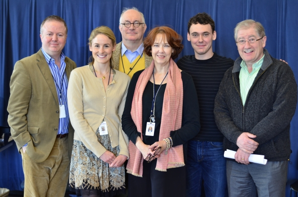 Christopher Luscombe, Cat Walleck, Simon Jones, Harriet Harris, John Skelley, Joe Dowling at Meet the Cast of Guthrie Theater's HAY FEVER