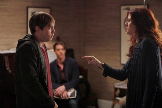 Emory Cohen, Christian Borle & Debra Messing at First Look - SMASH March 5 Episode 'Let's Be Bad'