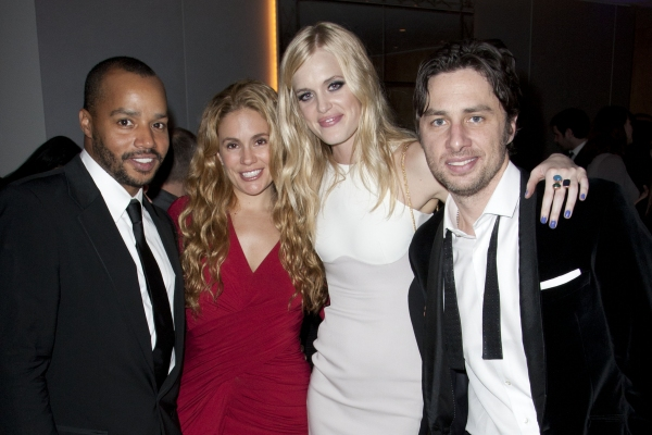 Donald Faison, Cacee Cobb, Taylor Bagley and Zach Braff