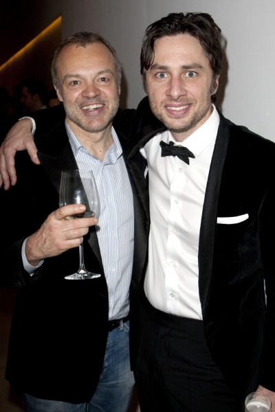 Graham Norton and Zach Braff