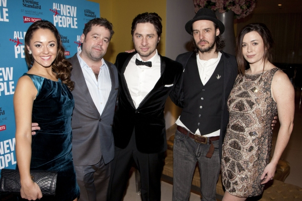 Susannah Fielding, Peter DuBois, Zach Braff, Paul Hilton and Eve Myles