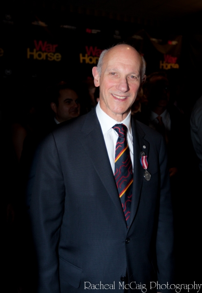 David Mirvish sporting his Diamond Jubilee Medal at WAR HORSE Opens in Toronto - All the Red Carpet Action!