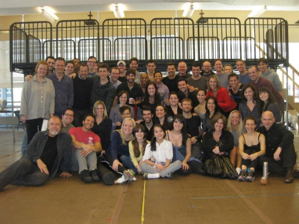 Photo Flash: The Complete Broadway Cast of EVITA in Rehearsal!