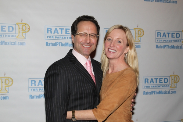 Andrew Asnes and Anastasia Barzee at RATED P FOR PARENTHOOD Opens Off-Broadway