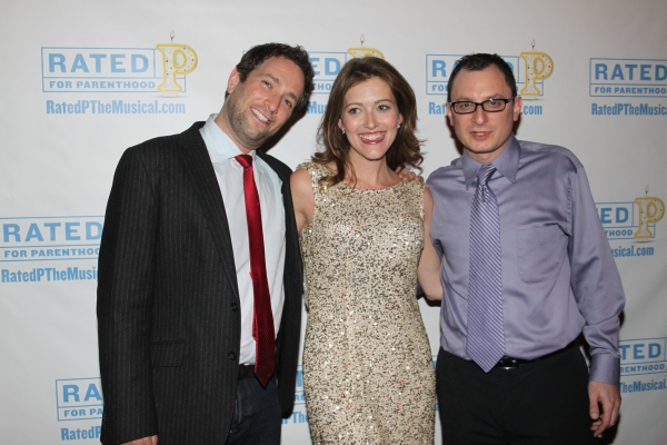 David Rossmer, Sandy Rustin and Dan Lipton at RATED P FOR PARENTHOOD Opens Off-Broadway