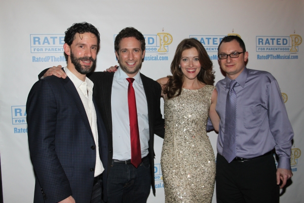 Jeremy Dobrish, David Rossmer, Sandy Rustin and Dan Lipton at RATED P FOR PARENTHOOD Opens Off-Broadway