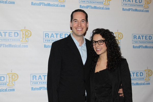 Parker Esse and Gina Rattan at RATED P FOR PARENTHOOD Opens Off-Broadway