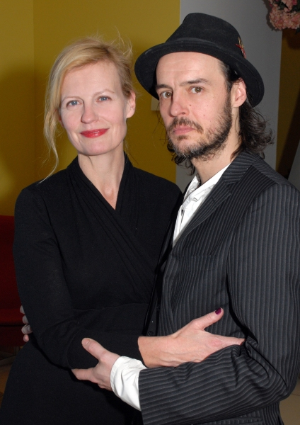 Anastasia Hille and Paul Hilton