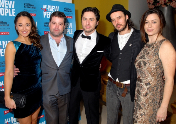 Susannah Fielding, Peter Dubois, Zach Braff and Paul Hilton