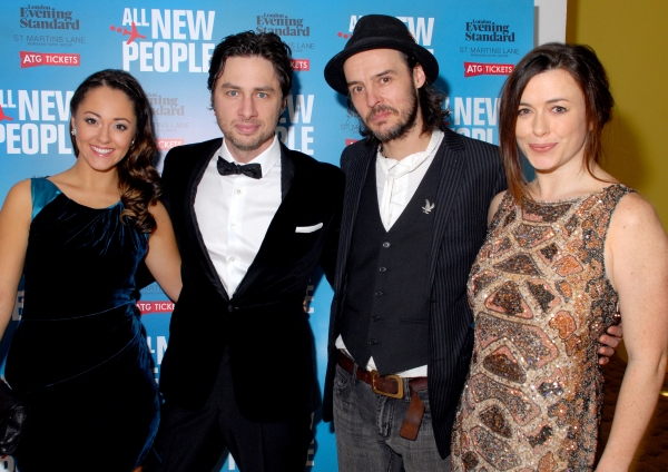Susannah Fielding, Zach Braff, Paul Hilton and Eve Myles  at More! Zach Braff & Co. At ALL NEW PEOPLE Opening Night