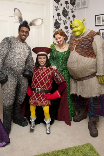 Richard Blackwood, Neil McDermott, Kimberley Walsh and Dean Chisnall'Shrek the Musical' new cast photocall, Theatre Royal Drury Lane, London, Britain - 29 Feb 2012Richard Blackwood (Donkey), Neil McDermott, Kimberley Walsh and Dean Chisnall