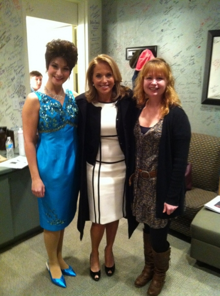 Heather Beck, Katie Couric and Patty Bird at Theatre at the Center's ALWAYS...PATSY CLINE Star Meets Katie Couric