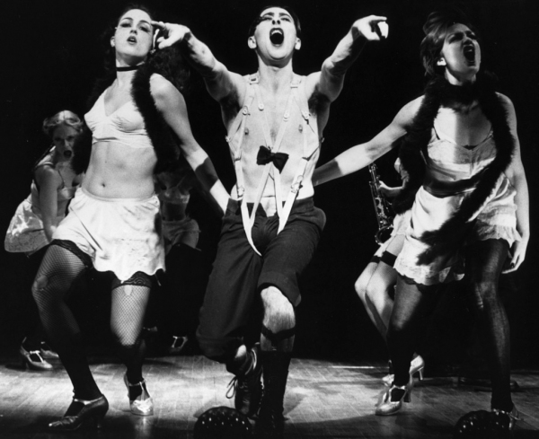 Leenya Rideout, Alan Cumming, and Michelle Pawk in 'Cabaret' Photo