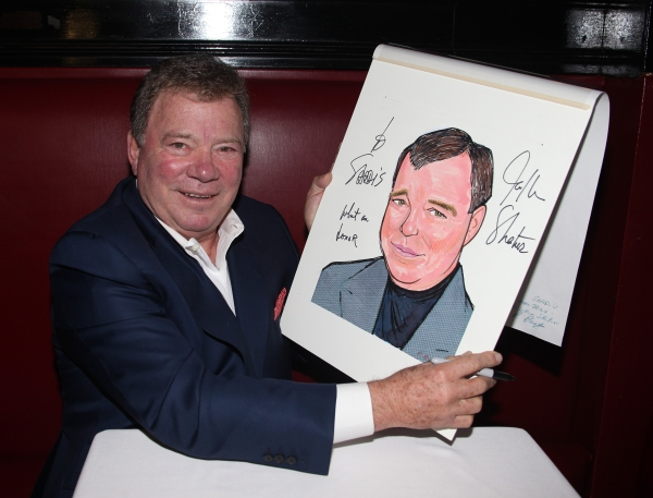 Photo Coverage: William Shatner Gets a Sardi's Caricature