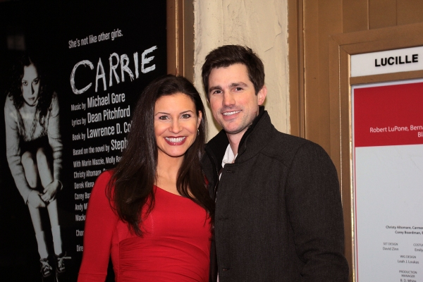 Jenny Peters, Matt Cavanaugh at CARRIE's Opening Night Red Carpet