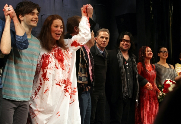 Andy Mientus, Marin Mazzie, Dean Pitchford, Stafford Arima,Molly Ranson & Jen Sese
