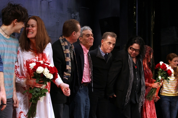 Andy Mientus, Marin Mazzie, Michael Gore, Lawrence D. Cohen, Dean Pitchford, Stafford Arima, Molly Ranson & Jen Sese