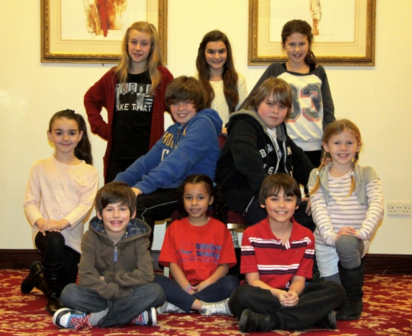 Jessica Adair, Olivia Plummer, Annabel Smith. Middle Row: Elise Blake, Tom Dunnigan, Luke Mills, Iris Jenkins, Nathaniel Smith, Nicole Aliyan Sims, Samuel Phelps-Jones