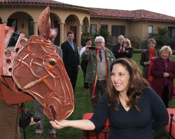 Karla Ahmanson at WAR HORSE at the Ahmanson Home