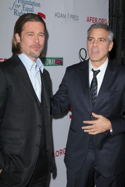 Brad Pitt and George Clooney  Photo