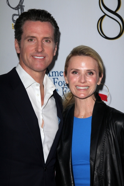 Gavin Newsom and Jennifer Siebel
